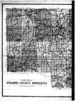 Stearns County Outline Map - Left, Stearns County 1912